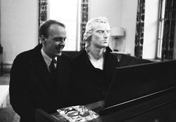 Schiller playing a duet with Mort in 1965